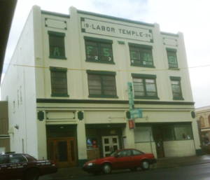 Astoria's historic labor temple is preserved as a pub and cafe.