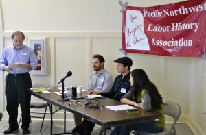 Bob Bussel introduces low wage panel – Daniel Morris, Ryan Wisnor and Mimi Khalili