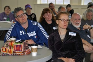 Participants learn about Astoria's rich local labor history