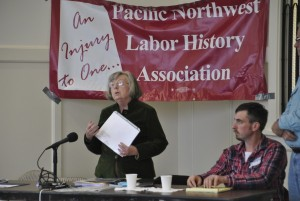 Irene Martin described the history of women workers in local canneries.