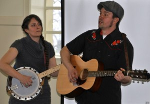 Kate Downing and Nathan Moore of the Low Tide Drifters.