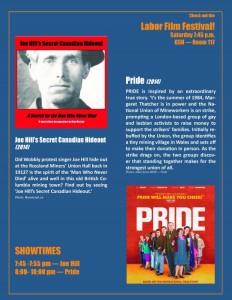 Joe Hill & Pride movie night