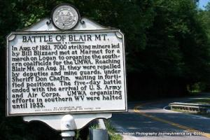 Blair Mt. plaque