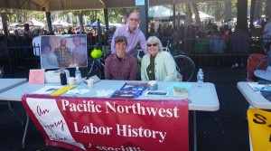Ryan Wisnor and Jim Strassmeier joined by PNLHA secretary Lane Poncy at Portland Labor Day picnic.